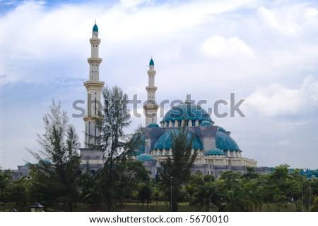 Mosque located at Jalan Duta, Kuala Lumpur, Malaysia. - stock photo