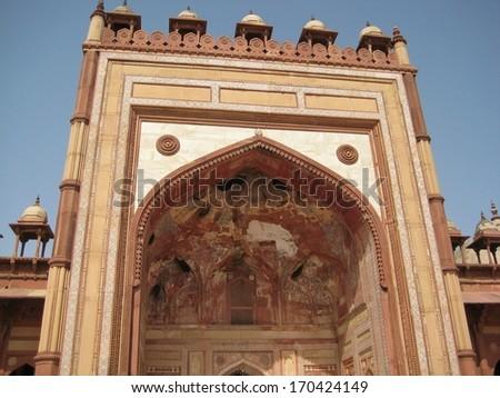 Mosque near Agra, India - stock photo