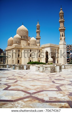 Mosque of Abu Abbas al Mursi in Alexandria, Egypt