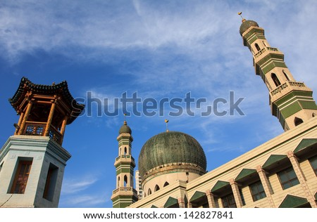 mosque of China - stock photo