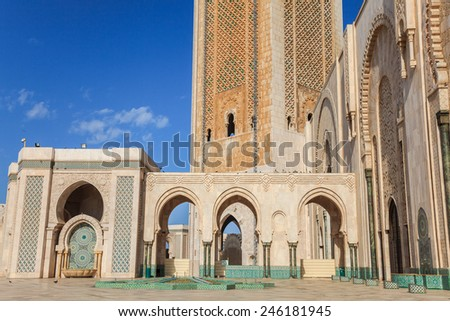 Mosque of Hassan II in Casablanca, Morocco