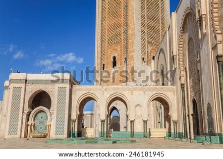 Mosque of Hassan II in Casablanca, Morocco - stock photo