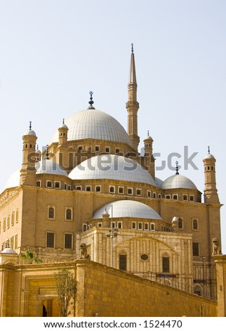 MOSQUE OF MOHAMAD ALI. at SALAH AL.DIN CITADEL, Cairo, EGYPT - stock photo
