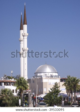 Mosque of Turgutreis - Bodrum (Turkey) - stock photo