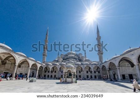 Mosque Sultanahmet - stock photo