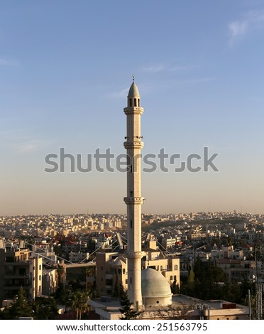 Mosques architecture in Amman, Jordan,  Middle East   - stock photo