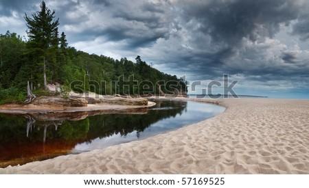 Mosquito Beach - stock photo