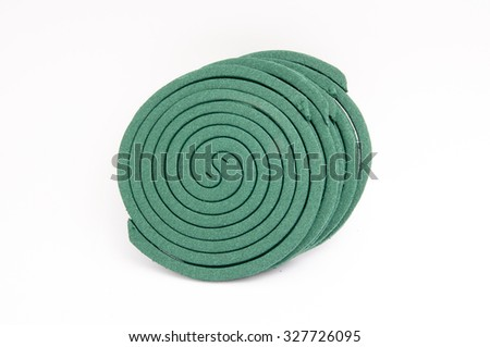 Mosquito coil on white background. -stock photo