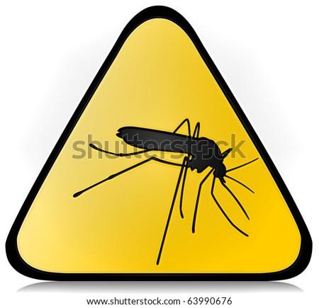 Mosquito sign - stock photo