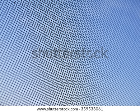 Mosquito wire screen texture on the window closeup - stock photo