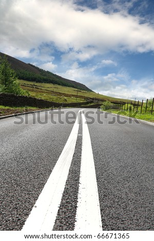 Most asphalt road - stock photo
