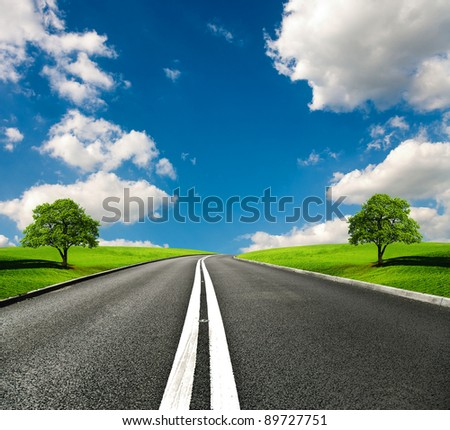 Most Asphalt road
