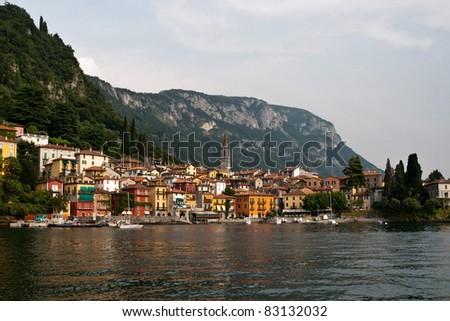 Most beautiful Italian lake Como - stock photo