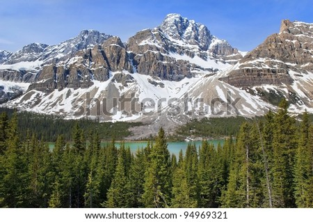 most beautiful landscapes in Banff National Park, Alberta, Canada - stock photo
