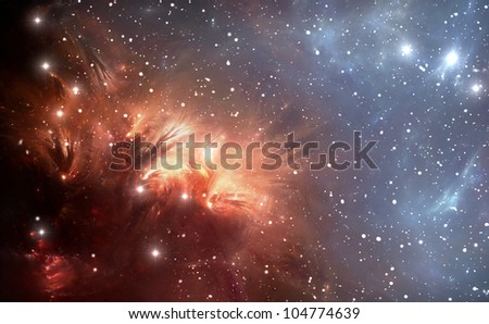 Most Detailed Space Nebula - stock photo