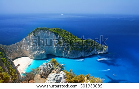 Most incredible Navagio Beach in Zakynthos Island, Greece