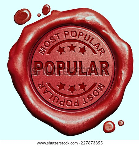 most popular in high demand new trend and trending  now wanted bestseller red wax seal stamp button - stock photo