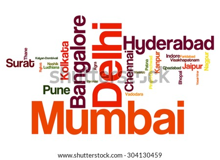 Most Populated Cities in India - stock photo