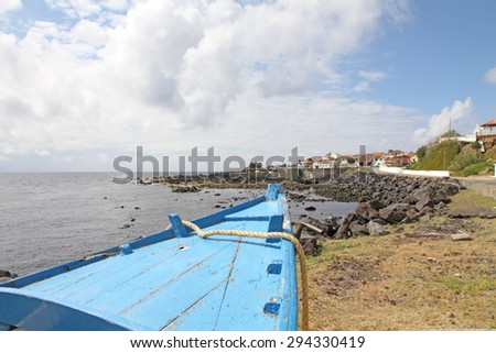 Mosteiros village Sao Miguel Azores islands Portugal - stock photo