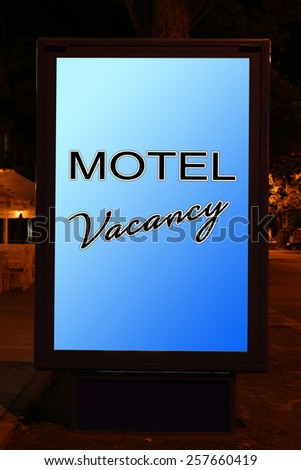 Motel city-light - stock photo