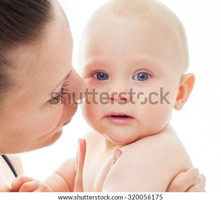 Mother and baby. - stock photo