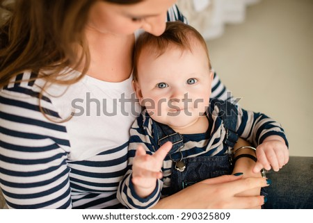 mother and baby's hands - stock photo