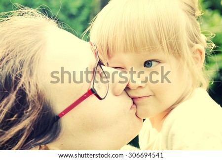 Mother and daughter. - stock photo