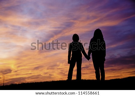Mother and daughter bonding. - stock photo