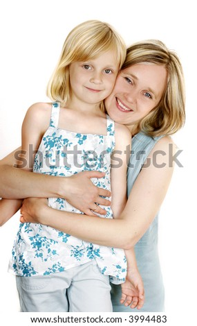 Mother and daugther - stock photo