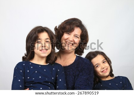 mother and daugthers, family photo - stock photo
