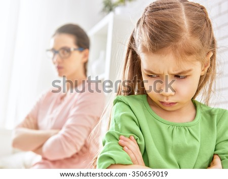 mother and her daughter quarreled