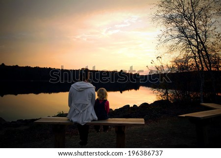 Mother Her Little Daughter Sitting Together Stock Photo 196386737 - Shutterstock