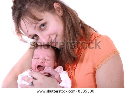 mother and newborn - stock photo