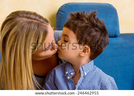 mother and son mother symbol of love, happiness, harmony, near - stock photo