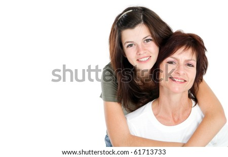 Mother and teen daughter portrait