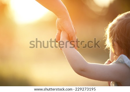 Mother and toddler - stock photo