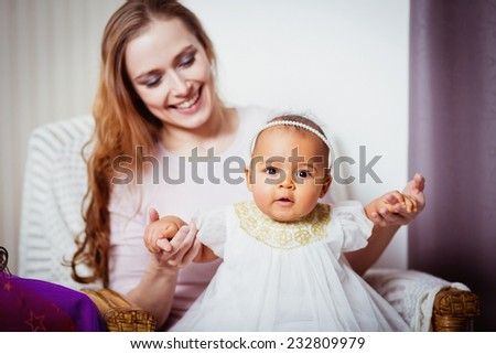 mother baby african  - stock photo
