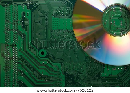 Mother board with CD