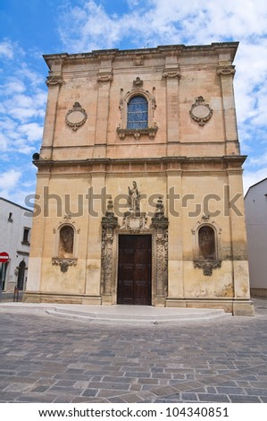 Mother Church. Calimera. Puglia. Italy.