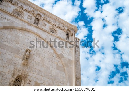 Mother church in Conversano, south of Italy