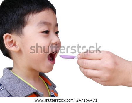 Mother entered her son to drugs - stock photo