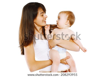Mother holding little baby  - stock photo