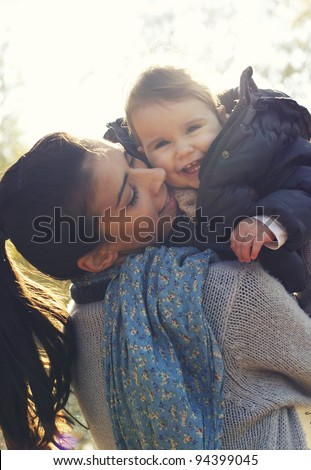 Mother love - stock photo