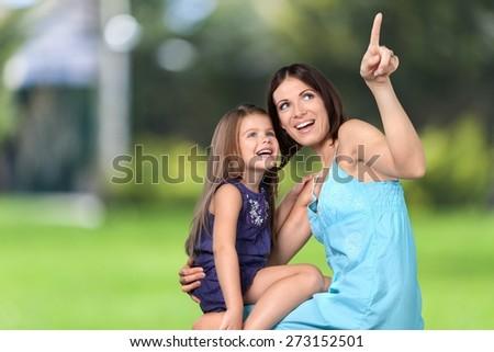 Mother. Mutter und Tochter - stock photo