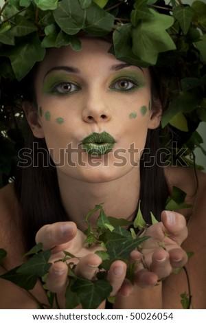 Mother nature sending kiss - stock photo