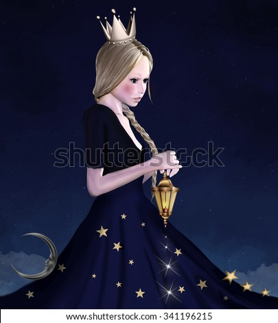 Mother night - stock photo
