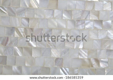 Mother of Pearl Mosaic  background - stock photo