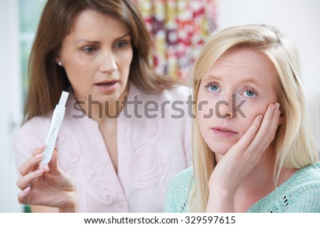 Mother Questioning Teenage Daughter About Pregnancy Test