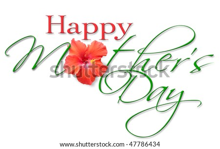 Mother's Day Header & Greeting - stock photo