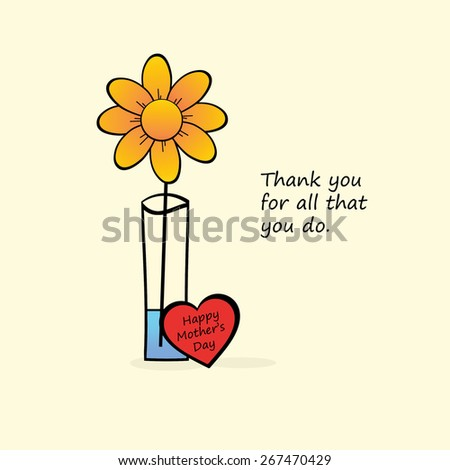 Mother's Day - Thank you for all that you do. - stock photo
